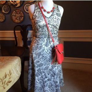Ann Taylor Loft Toile Dress
